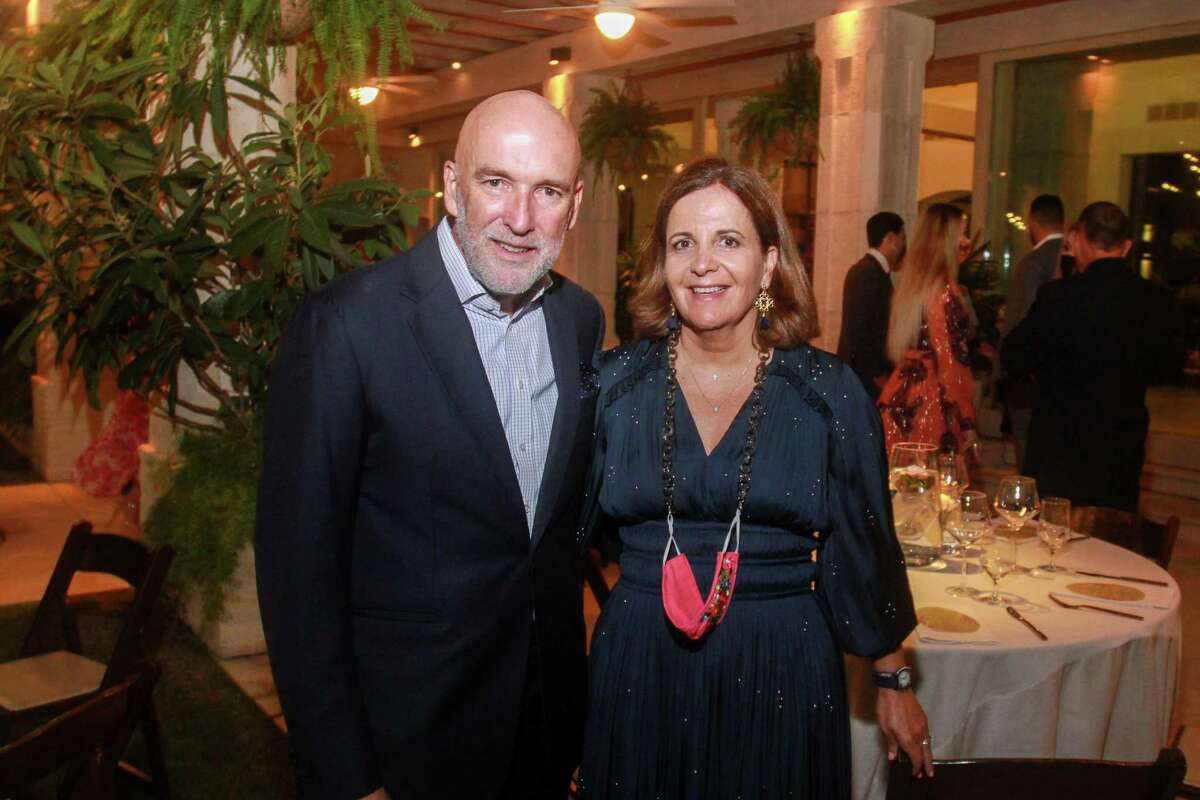 Hosts Ignacio and Isabel Torras at the Fabergé and Correa Family Foundation Golden Garden Soiree