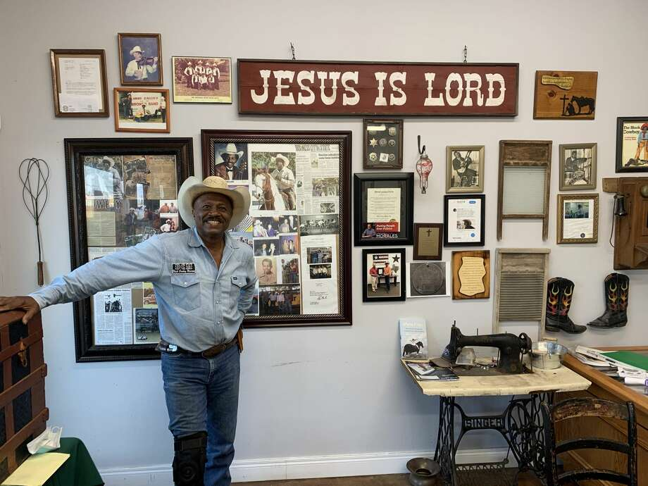 Larry Callies, owner of the Black Cowboy Museum in Rosenberg, Texas. Photo: Shelby Stewart