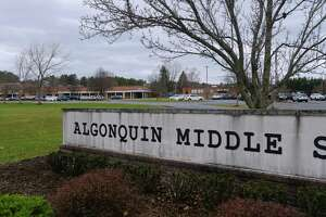 A view of Algonuin Middle School on Monday, Nov. 16, 2020, in Averill Park, N.Y.    (Paul Buckowski/Times Union)