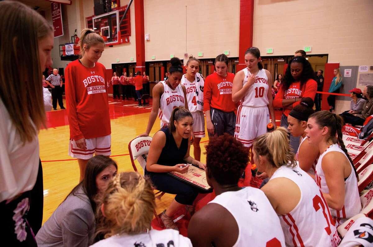 Boston University women's basketball coach Marisa Moseley, a former UConn assistant.