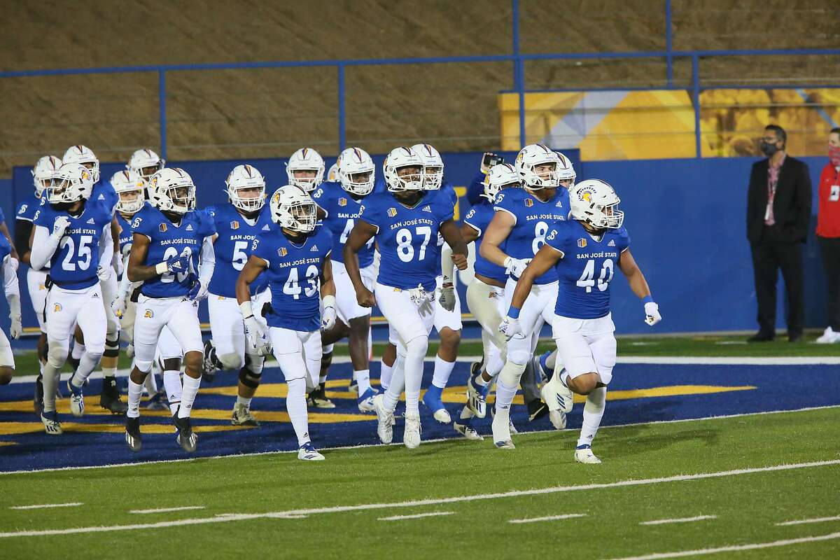 The San Jose State Spartans take the field Nov. 14, 2020 to host the UNLV Runnin' Rebels. The Spartans beat the Rebels and go into their game against Fresno State unbeaten thus far this season, at 4-0.