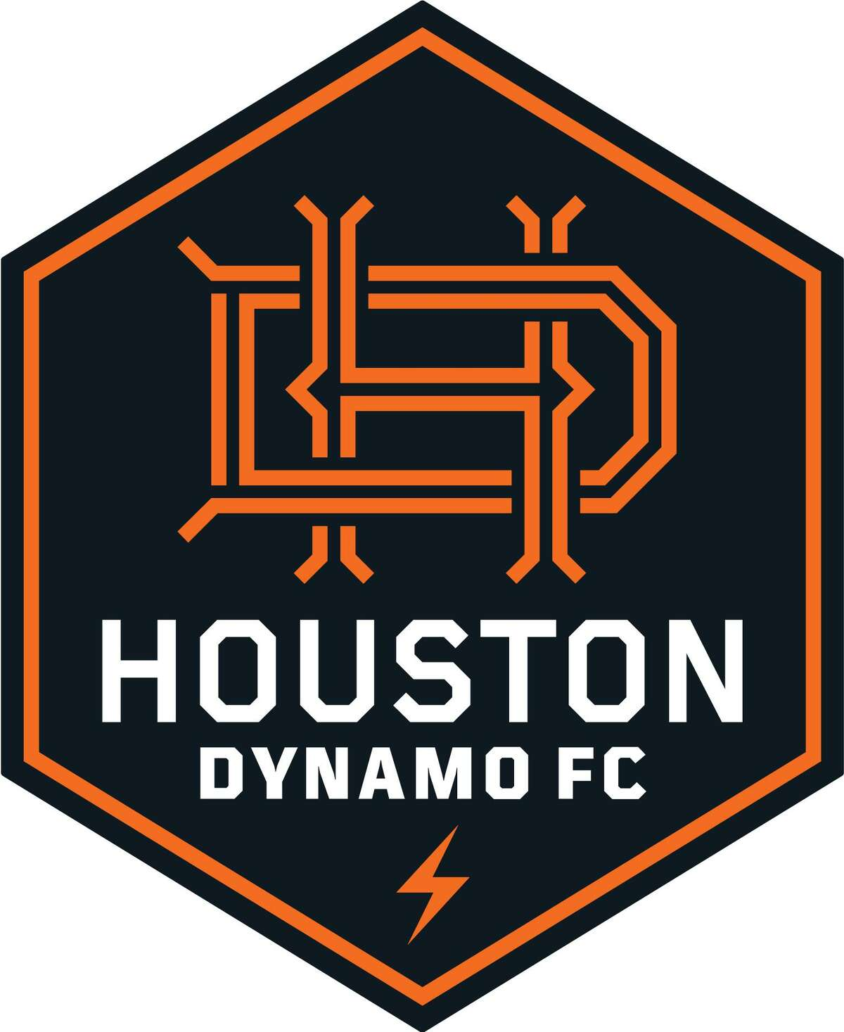 Houston Dynamo FC and its new logo and branding.