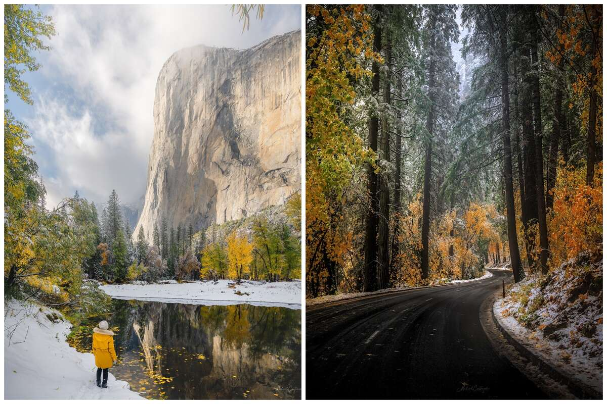 Photographer Michael Castaneda traveled to Yosemite last week to experience and photograph his first snowstorm.