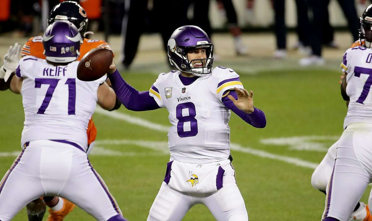 Vikings QB Kirk Cousins threw for 292 yards and two touchdowns to claim his first Monday night win as a starter.