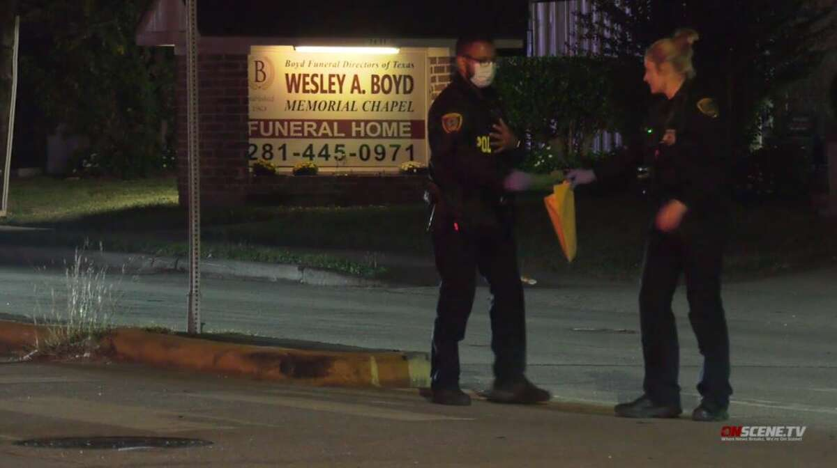 Police investigate a shooting in north Houston that sent a teen girl and a woman to the hospital on Monday, Nov. 16, 2020.