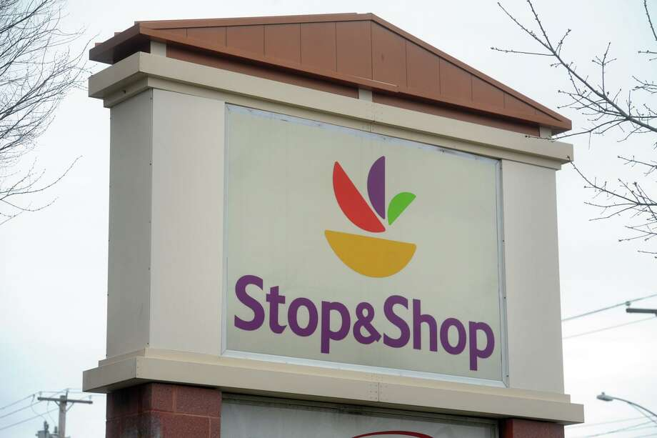 A file photo of a Stop & Shop sign in Connecticut. Photo: Ned Gerard / Hearst Connecticut Media / Connecticut Post