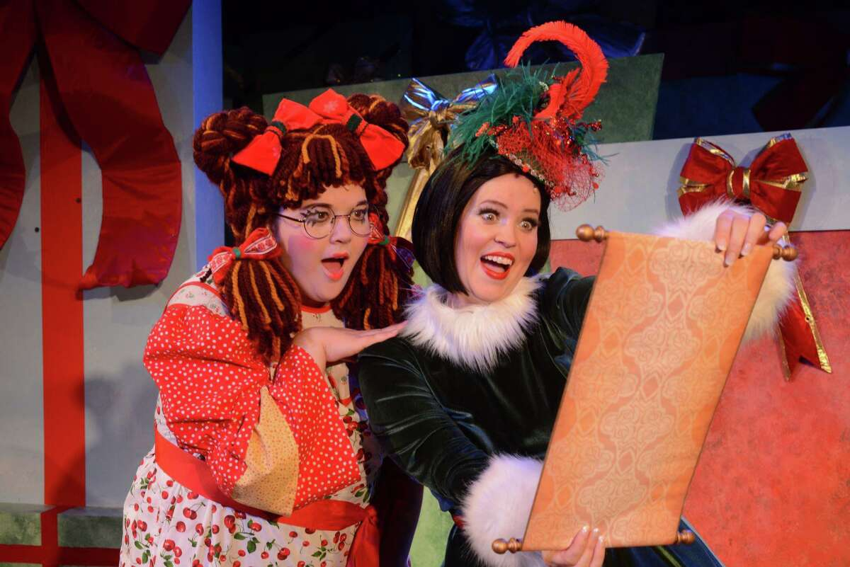 """""""Eleanor's Very Merry Christmas Wish - The Musical,"""" tells the story of a rag doll who lives in the magical North Pole, but longs for a best friend and home of her own. Samantha Bonzi, as Eleanor, and Emily Rohm, as Clara, appear in a scene from the production, which had its world premiere last year. New Haven's Shubert Theatre and Waterbury's Palace Theater are streaming video of """"Eleanor's Very Merry Christmas Wish - The Musical,"""" Nov. 27-Dec. 27."""
