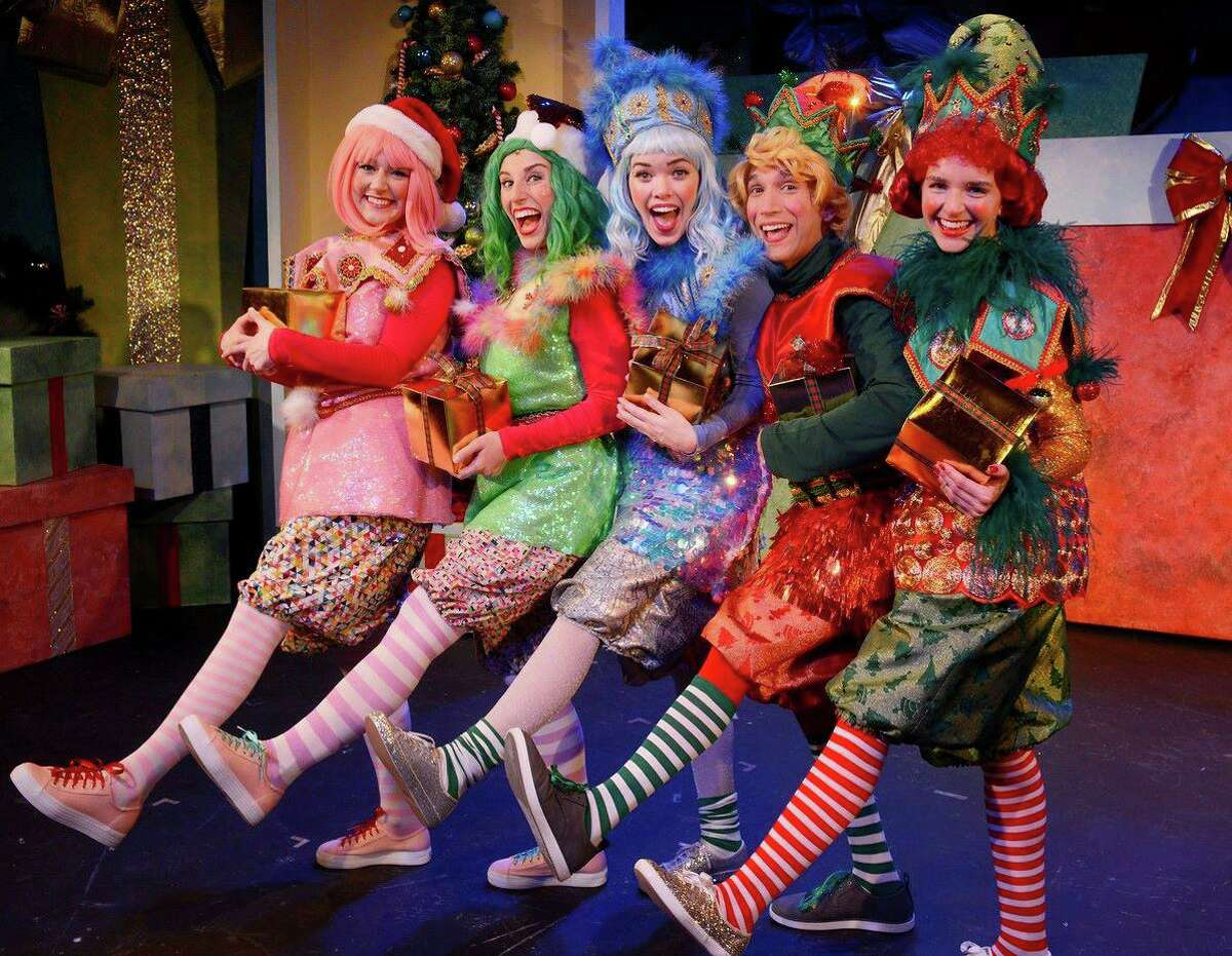 """""""Eleanor's Very Merry Christmas Wish - The Musical,"""" tells the story of a rag doll who lives in the magical North Pole, but longs for a best friend and home of her own. Santa's elves appear in this scene from the acclaimed production, which had its world premiere last year. New Haven's Shubert Theatre and Waterbury's Palace Theater are streaming video of """"Eleanor's Very Merry Christmas Wish - The Musical,"""" Nov. 27-Dec. 27."""