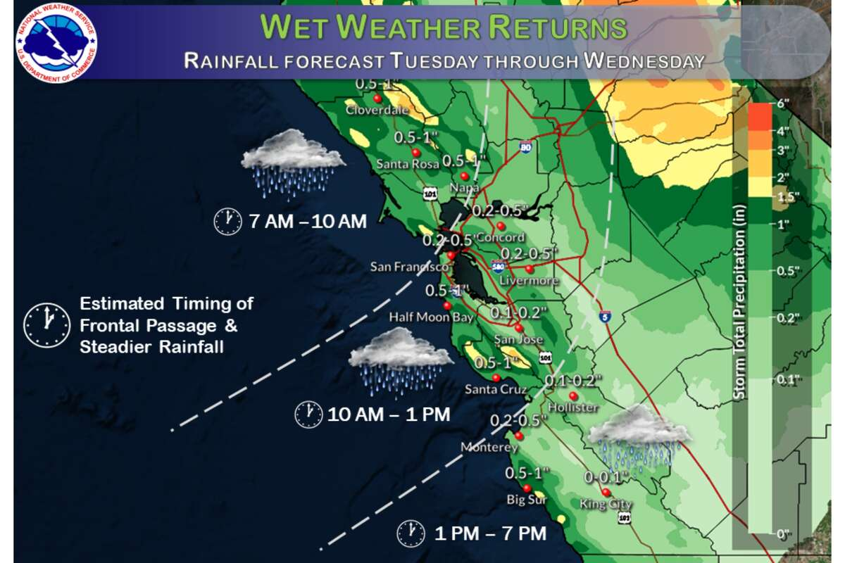 Rain is in the Bay Area forecast on Nov. 17, 2020.