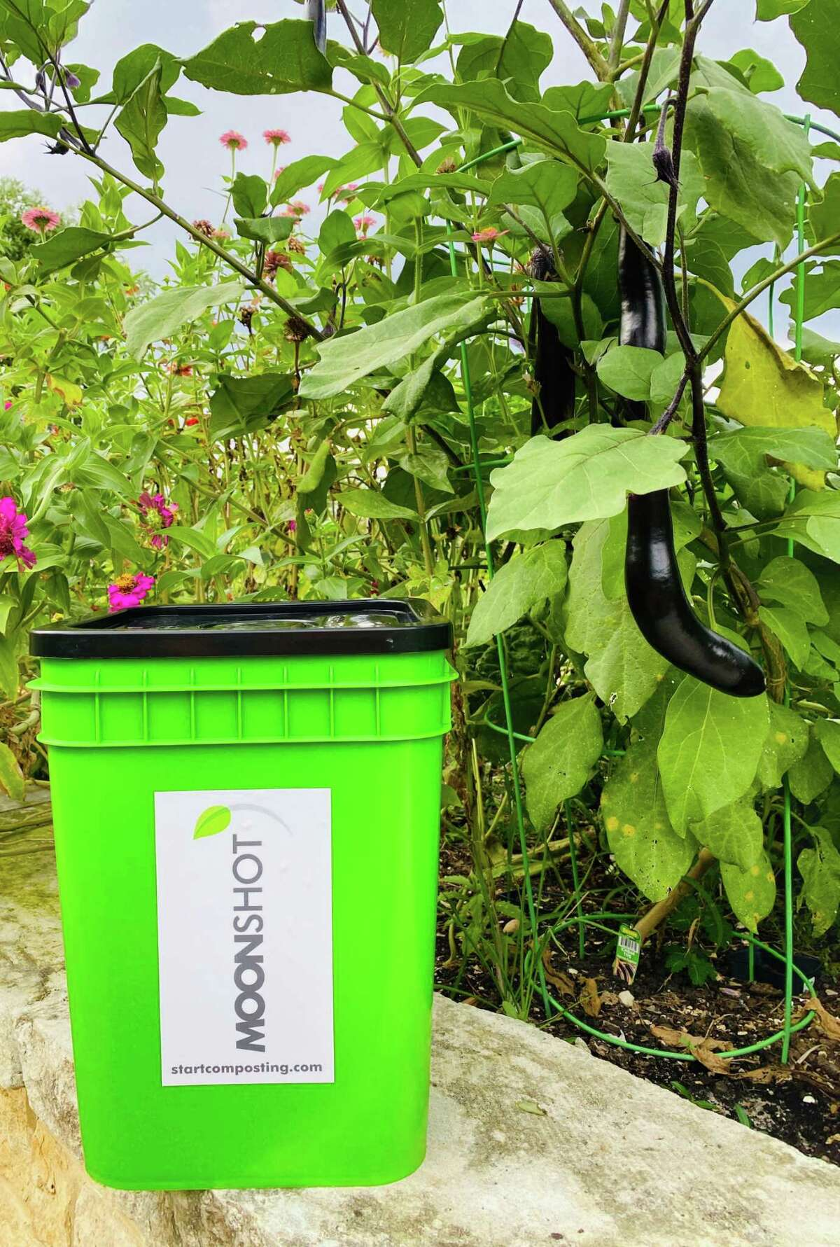 Moonshot Compost takes food waste from residential and commercial clients, brings it to an industrial composting facility, then returns the compost to their clients.