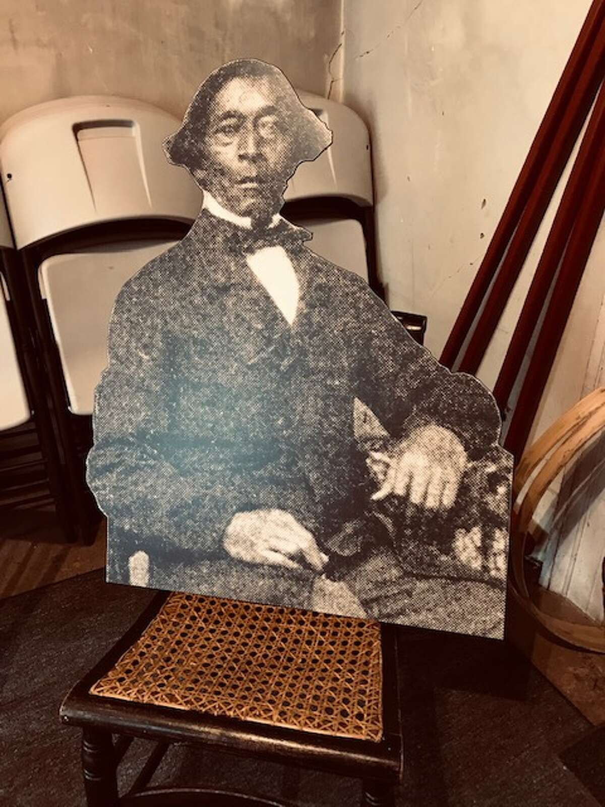 A cut-our photograph with one of the only surviving photographs of Albany abolitionist and Underground Railroad conductor in Albany.