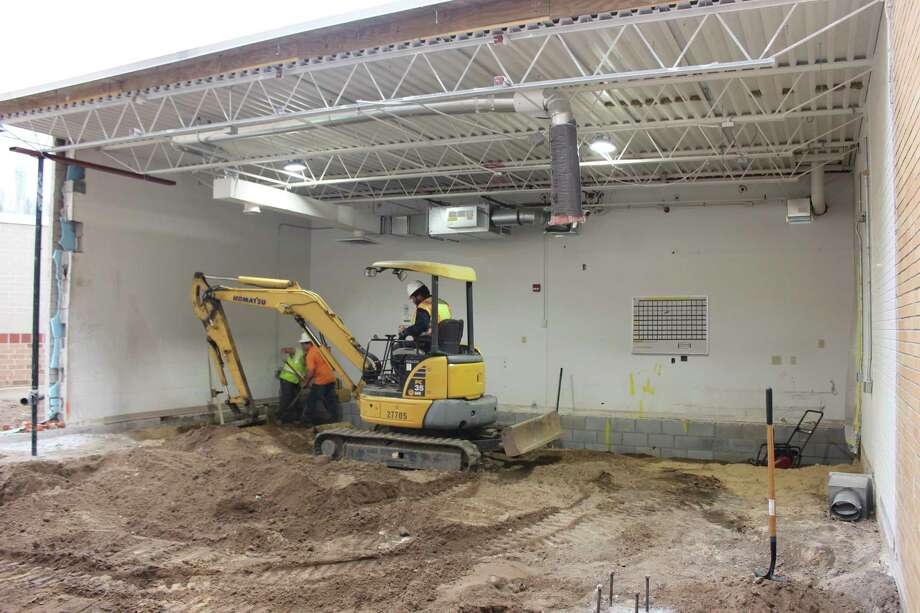 Renovation has started at Spectrum Health Big Rapids Hospital's radiology department. Construction crews work in an area that will house the department's new MRI machine coming in March. (Photo courtesy of Spectrum Health)