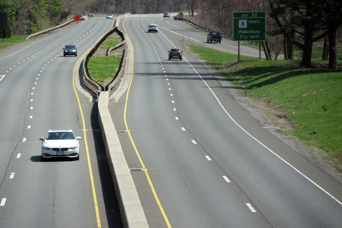 A file photo of the Merritt Parkway in Trumbull, Conn.