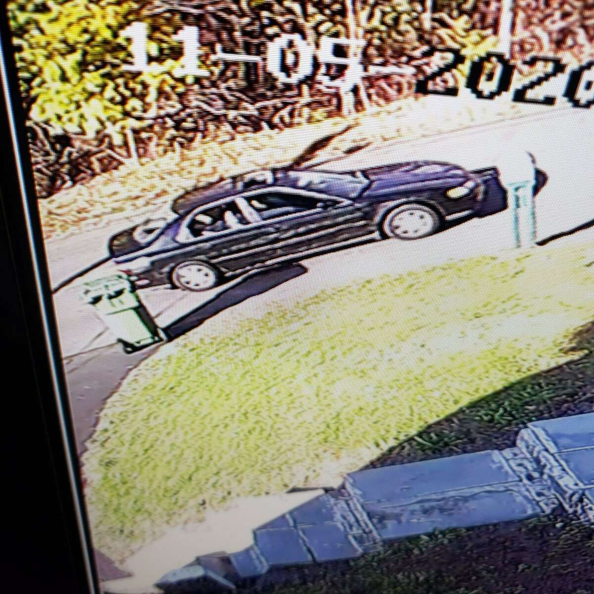 The alleged suspect vehicle tied to a fatal hit-and-run involving a pedestrian in Meriden, Conn., on Thursday, Nov. 5, 2020.