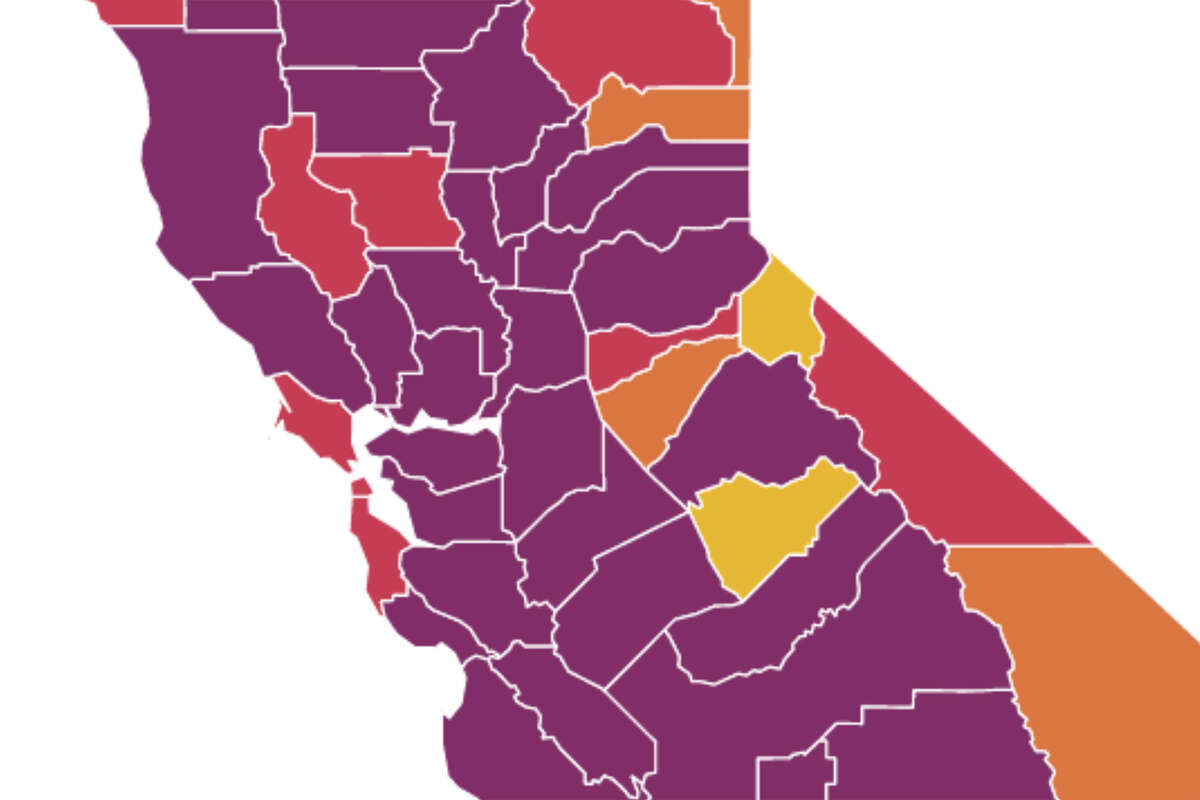 94 Of California Is In The Purple Tier Here S A Look At The Bay Area