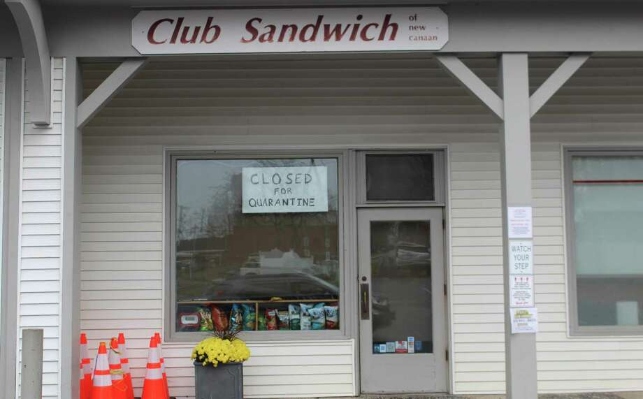 Club Sandwich, 107 Cherry St., closed for two weeks effective Tuesday, Nov. 17, after an employee tested positive for COVID-19. Photo: John Kovach / Hearst Connecticut Media / New Canaan Advertiser