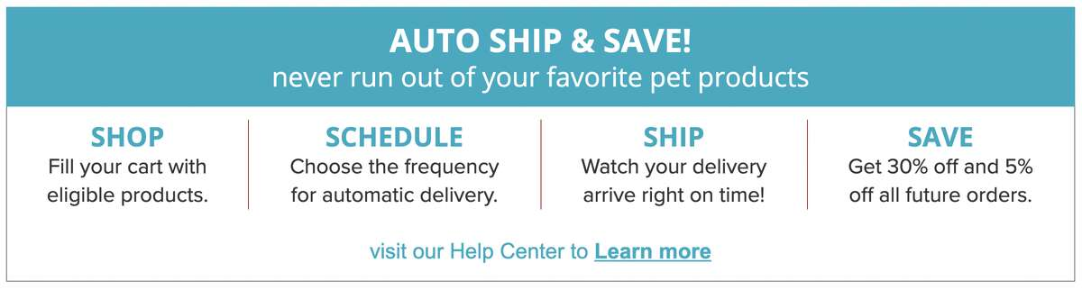 Learn more about auto ship at PetSmart.