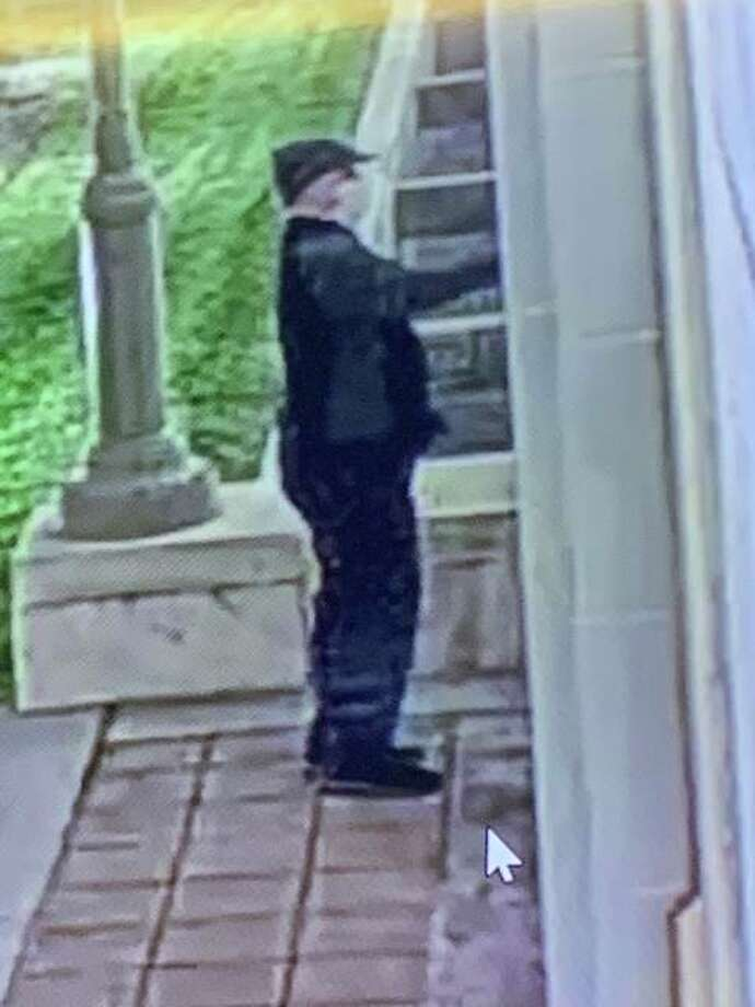 """The Edwardsville Police Department is seeking assistance with identifying a subject in an ongoing investigation. At about 4:25 a.m. Friday, Nov. 6, the Madison County Court House at 155 N. Main St., Edwardsville, was damaged by someone spray painting the outside of the building. The building sustained """"BLM"""" graffiti. Anyone able to identify this subject or who has information regarding this incident is asked to contact Detective Sergeant Jones of the Edwardsville Police Department at 618-656-2131."""