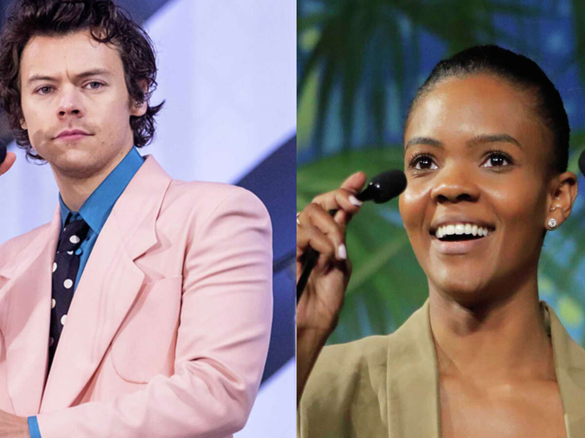 """Celebrities and fans alike rallied to defend Harry Styles on Monday in response to a negative tweet about the artist from conservative author Candace Owens. """"There is no society that can survive without strong men,"""" Owens tweeted. """"The East knows this. In the west, the steady feminization of our men at the same time that Marxism is being taught to our children is not a coincidence. It is an outright attack. Bring back manly men."""" On Monday, fans quickly defended Styles and his decision to express himself through clothing, making the topic trend on Twitter. Several celebrities, such as Olivia Wilde, Zach Braff and Jameela Jamil, also chimed in. """"Lord of the Rings"""" star Elijah Wood responded that """"Masculinity alone does not make a man,"""" later adding, """"In fact, it's got nothing to do with it."""" His words echo similar responses arguing that Owens' idea of manliness is based on cultural expectations created over time, not anything inherent to manhood."""