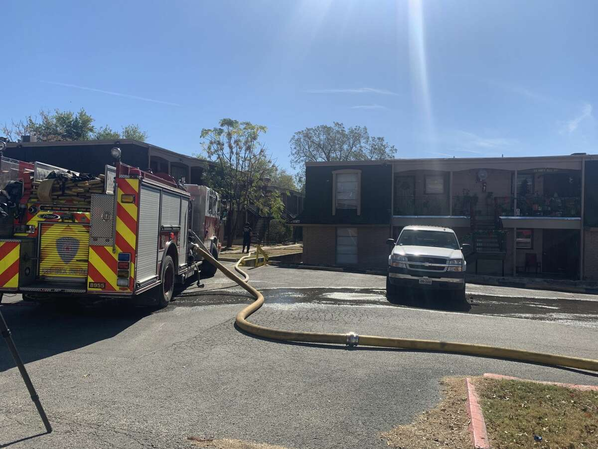 Just before 11 a.m., firefighters arrived at the Gardina Courts apartments, located at 1318 Gardina on the Northwest Side, to find heavy smoke and fire coming from the second floor attic, said San Antonio Fire Department spokesmanJoe Arlington.