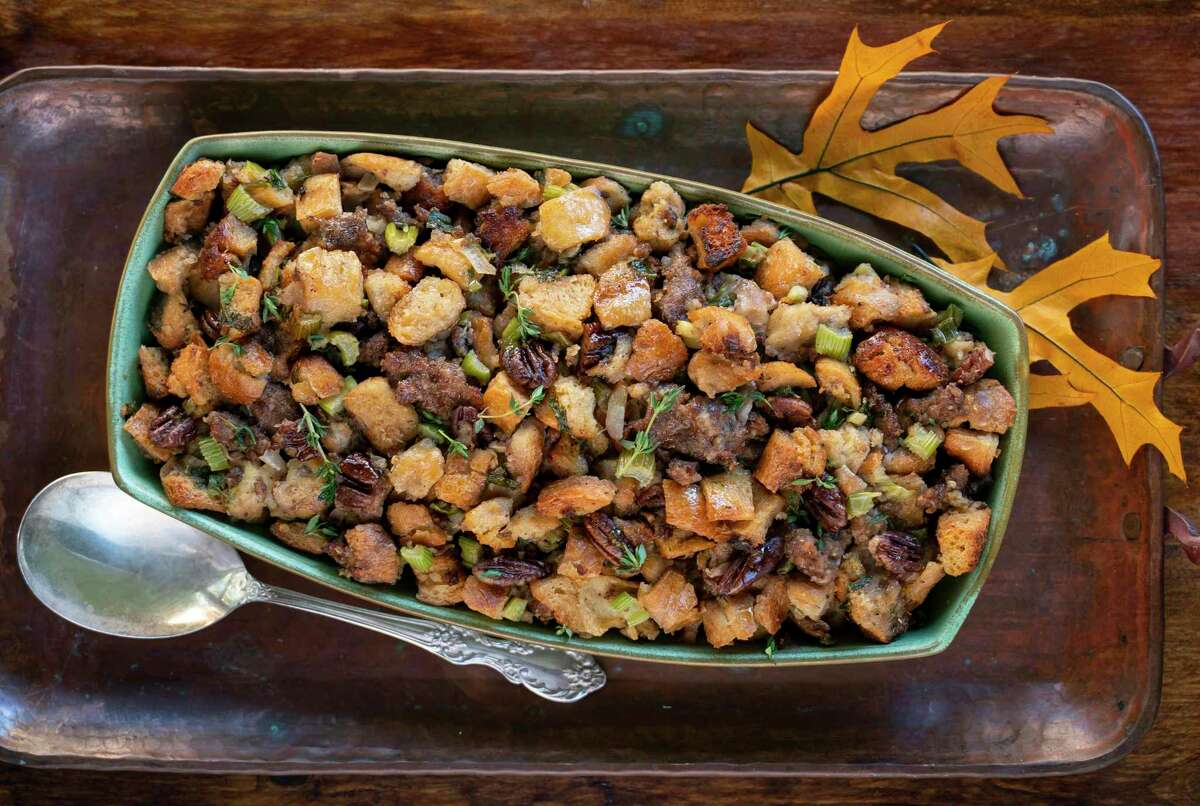 Holiday Sausage Dressing, recipe from Levi Goode, Goode Company restaurants.(Styling by Carla Buerkle)