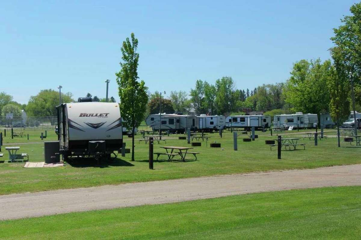 Some of the campers parked at Stafford County Park in Port Hope back in 2019. Despite getting a late start to the year, the Huron County parks have brought in more than $1.7 million. (Tribune File Photo)