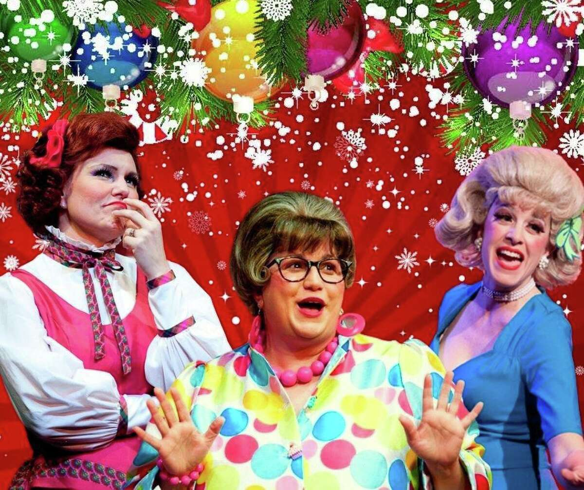 """""""Pantochino's Christmas Countdown"""" delivers 24 fun-filled holiday moments via emailed videos, beginning Dec. 1. Company members offer stories, songs and surprises for families to enjoy. The musical theater """"calendar"""" features, from left, Shelley Marsh Poggio, Maria Berte and Mary Mannix."""