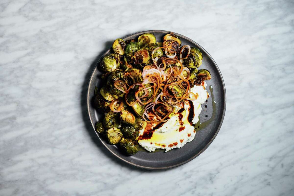 The unfairly maligned vegetable gets an update with creamy labneh and pickled shallots.
