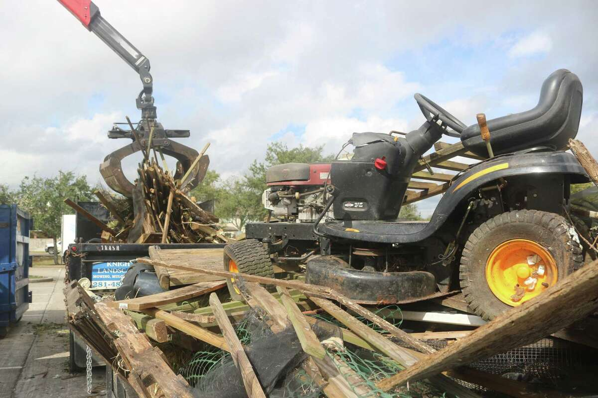 A riding mower that had seen better days was among the items dropped off during Saturday's Fall Haul.