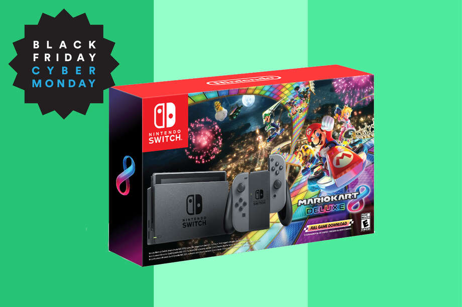 Nintendo Switch Bundle with Mario Kart 8 Deluxe, $299 at Walmart for Black Friday Photo: Walmart/Hearst Newspapers