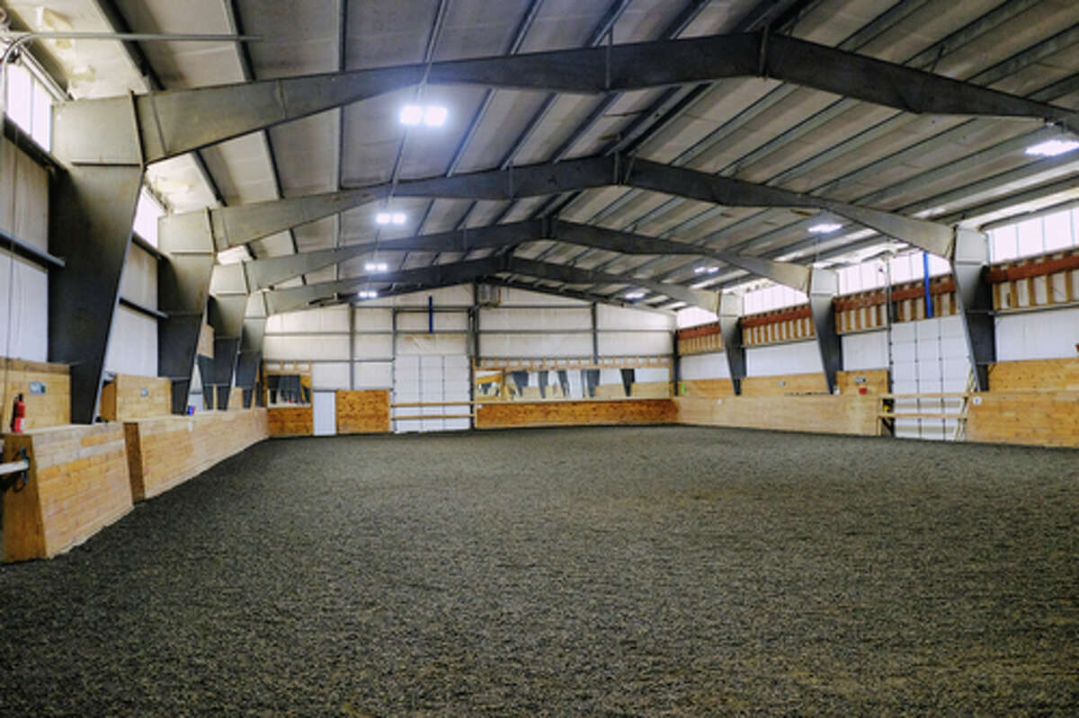 A view of the indoor riding arena at the Cross Creek Equestrian Center, and Topline Sporthorses on Thursday, Nov. 12, 2020, in Sloansville, N.Y. (Paul Buckowski/Times Union)
