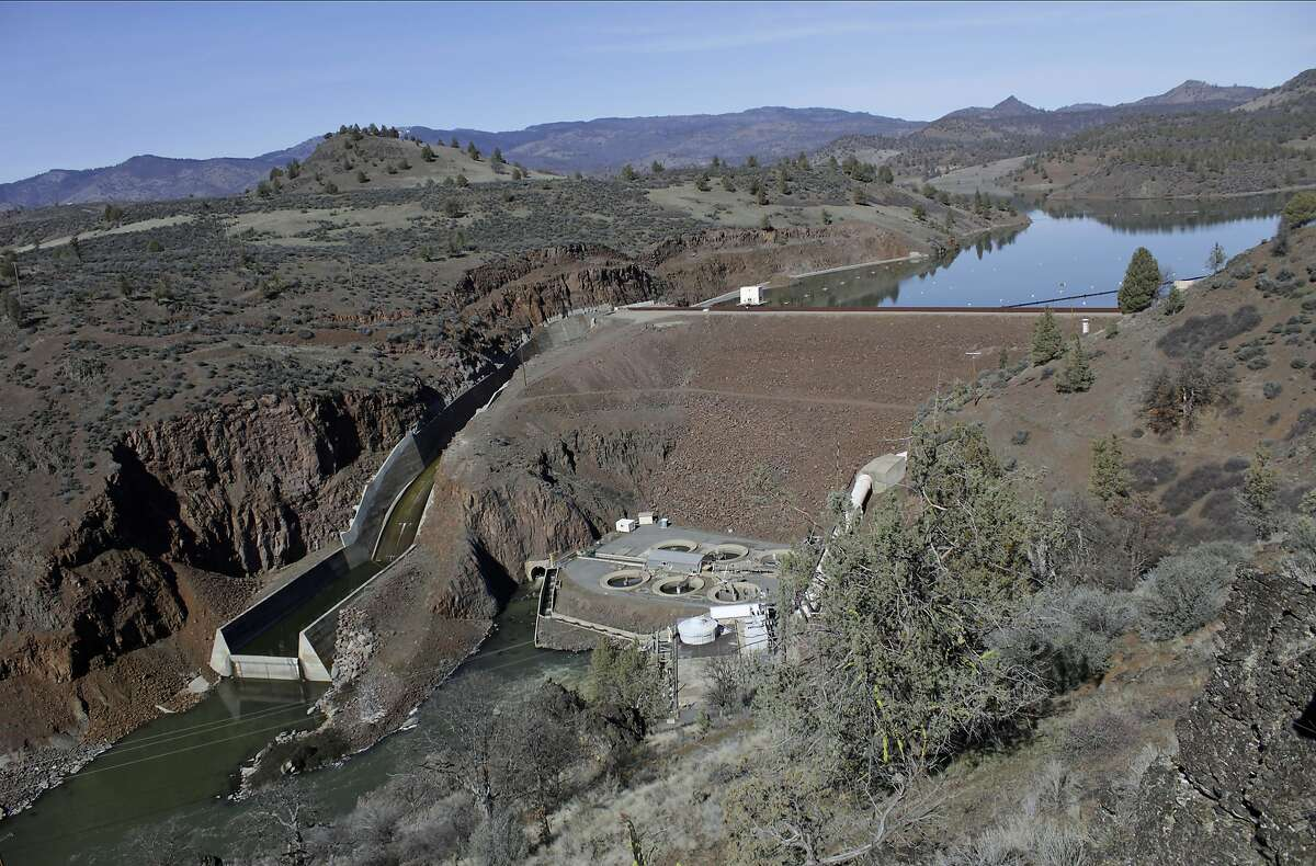 Iron Gate Dam on the lower Klamath River in Siskiyou County is one of the dams to be demolished.