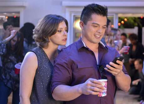 """in the """"Crazy Ex-Girlfriend,"""" Rachel Bloom plays the obsessive Rebecca Bunch, a single woman who decides to drop everything — including a successful New York law practice — to move to a small California town in pursuit of happiness and her longtime soul mate who dumped her in high school, Josh, played by Vincent Rodriguez III."""