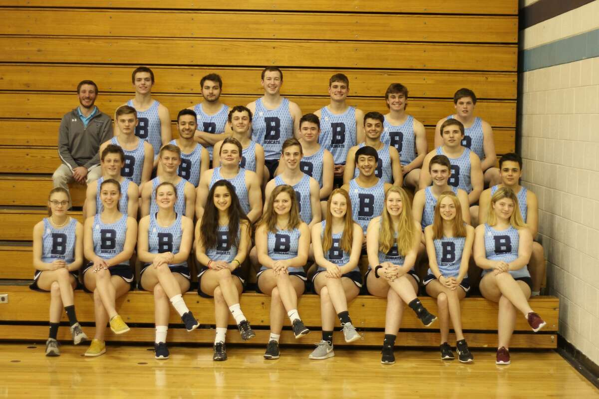 This Brethren varsity track and field team photo shows Kevin Dean last spring. Dean is in the third row, far right.
