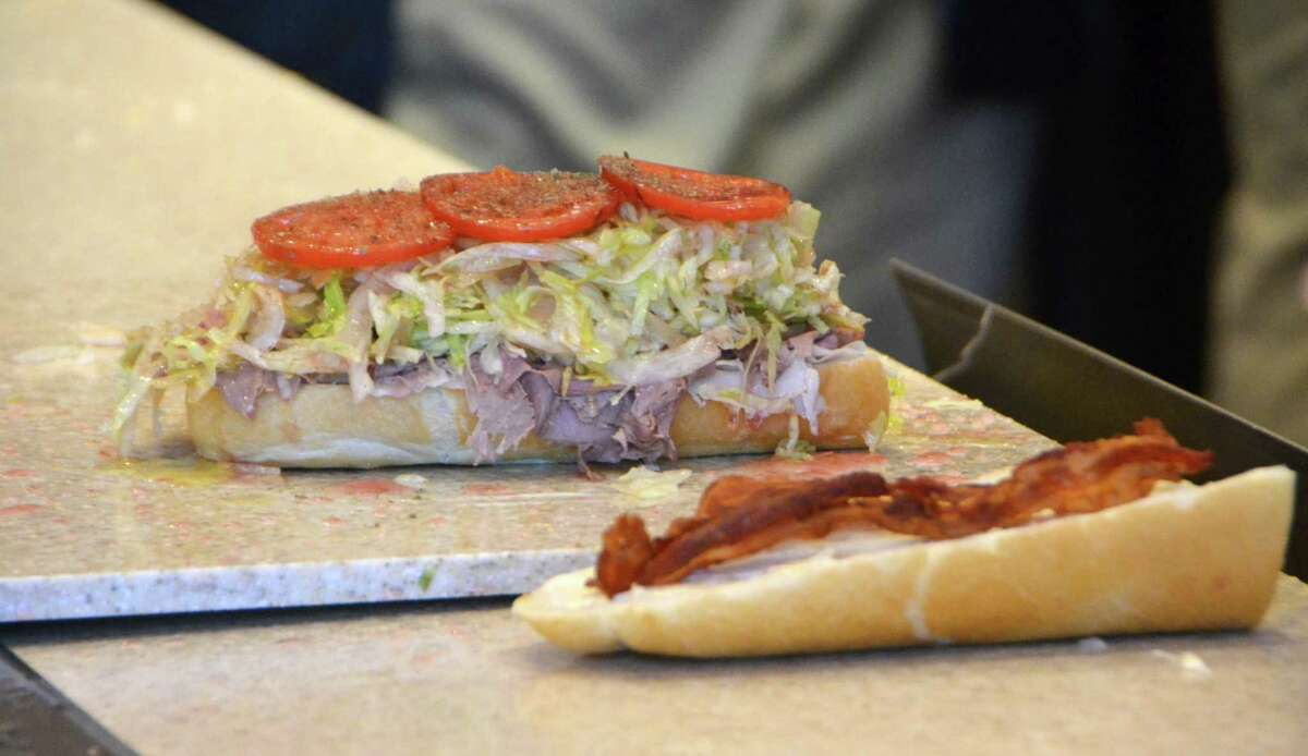 """The """"Club Sub"""" is one of Jersey Mike's Subs' sandwiches available. Jersey Mike's Subs, started in 1956."""