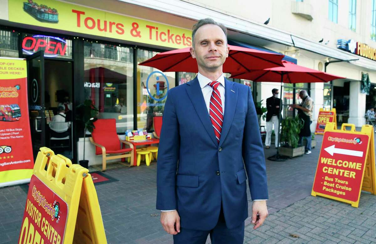 David Strainge runs CitySightSeeing, those double-decker, hop-on, hop-off tour buses.