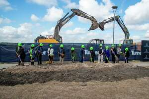 Dignitaries break ground on Nov. 5 for the Northeast Lakeview College's $36 million STEM building.
