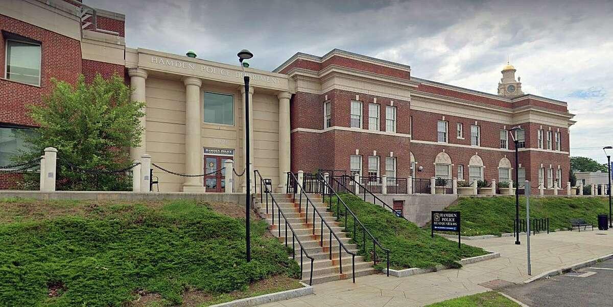 A Google Streetview screenshot of the Hamden, Conn., Police Department headquarters.