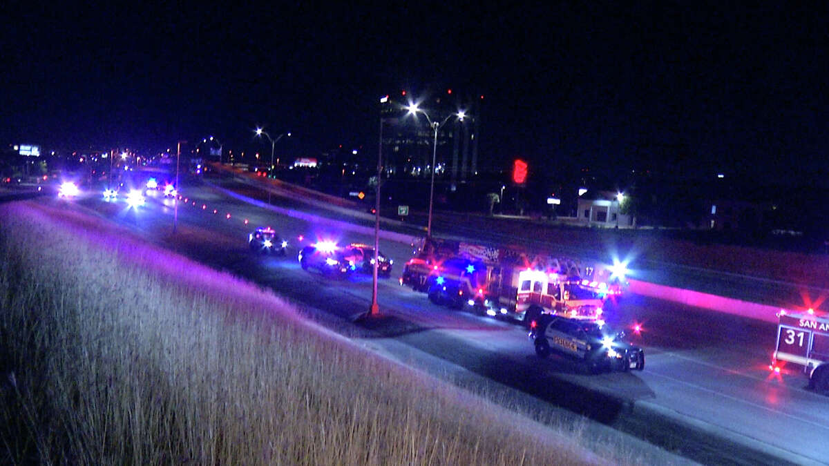 A man was hospitalized in critical condition Tuesday night after getting shot while driving down U.S. 281, police said.