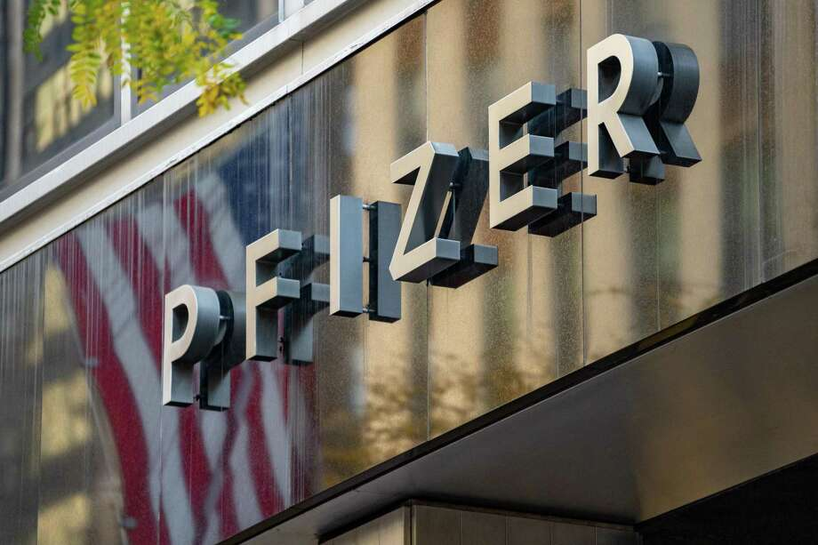 The Pfizer headquarters in New York City. Photo: David Dee Delgado / Getty Images / 2020 Getty Images
