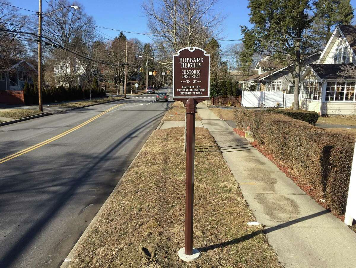 Stamford's Hubbard Heights neighborhood, established in the late 1700s, was the first in the city in more than 25 years to be designated as a Historic District by the National Park Service. A sign honoring its designation is photograph on Feb. 28, 2019 on Hubbard Avenue in Stamford, Connecticut. Proposed zoning regulations would provide new protections for historic structures and districts in Stamford.