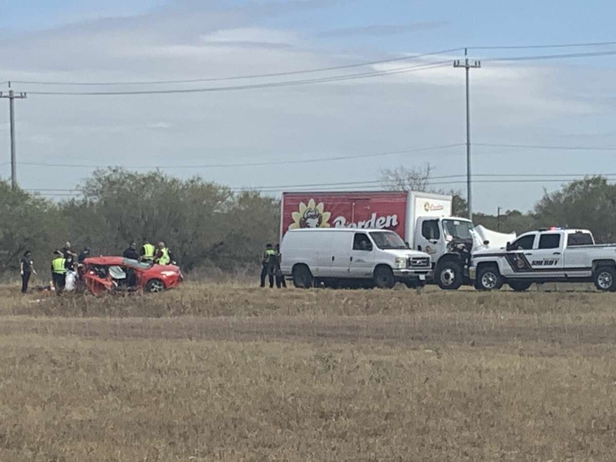 Two people are dead after a car crash Wednesday morning in southwest Bexar County, officials said.
