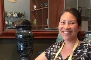 Bianca Dupuis of The Broken Mold Studio in Troy.