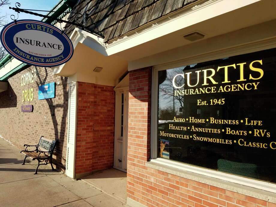 Curtis Insurance Agency is located in downtown Frankfort across from the Crescent Bakery, next to the Corner Drug Store. (Photo/Colin Merry)