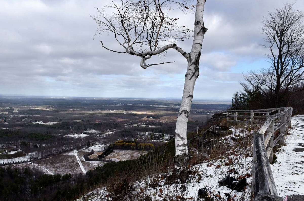 A coating of snow is visible at Thacher Park and throughout surrounding Hilltowns on Wednesday, Nov. 18, 2020, in New Scotland, N.Y. Will Waldron/Times Union)