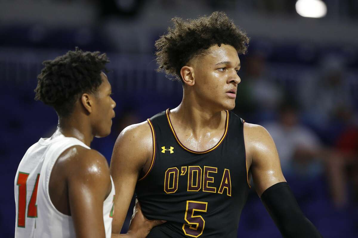FORT MYERS, FLORIDA - DECEMBER 19: Paolo Banchero #5 of O'Dea High School against Blanche Ely High School during the City of Palms Classic Day 2 at Suncoast Credit Union Arena on December 19, 2019 in Fort Myers, Florida. (Photo by Michael Reaves/Getty Images)