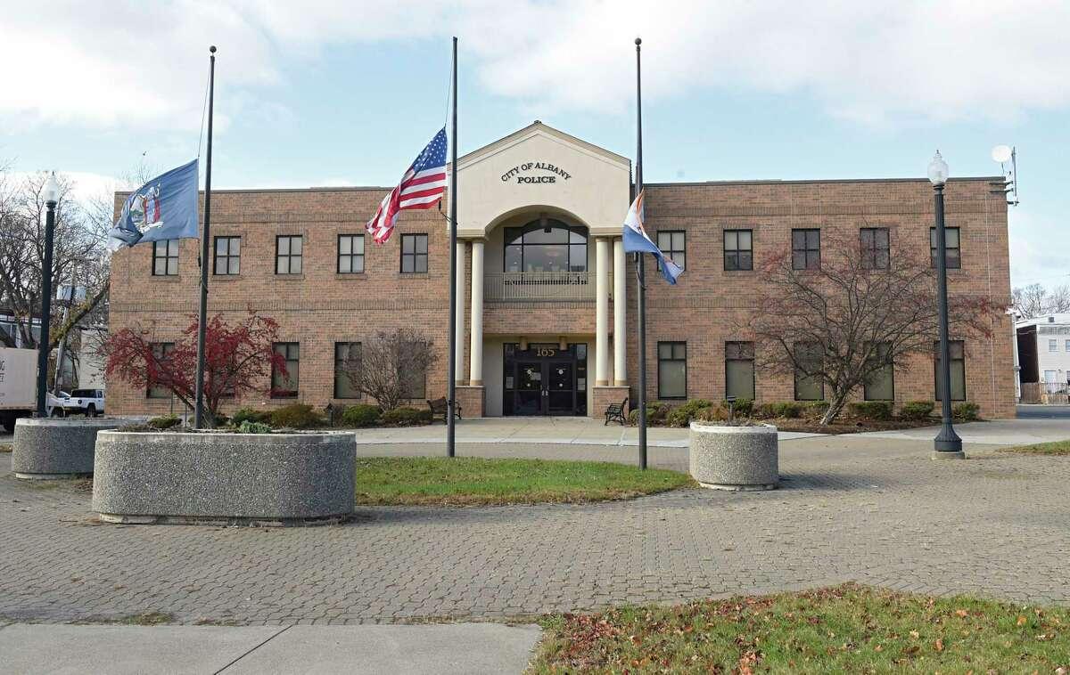 Exterior of Albany police headquarters on Henry Johnson Blvd. on Wednesday, Nov. 18, 2020 in Albany, N.Y. (Lori Van Buren/Times Union)