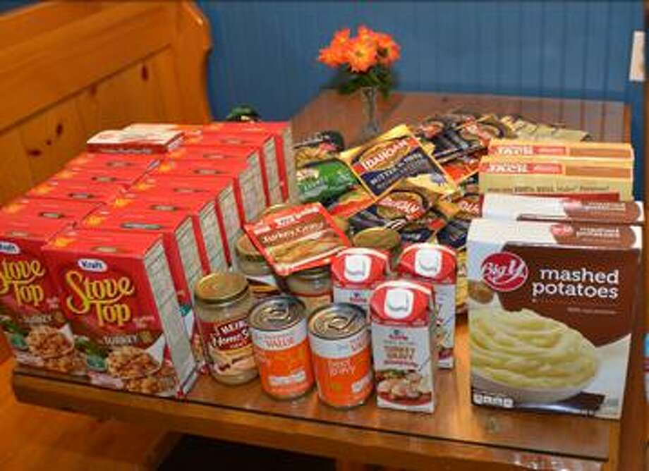 Students and staff from the Glenholme School in Washington are working together to brighten the Thanksgiving holiday for those in the community by collecting non-perishables. Photo: Courtesy Of Glenholme School / Danbury News Times
