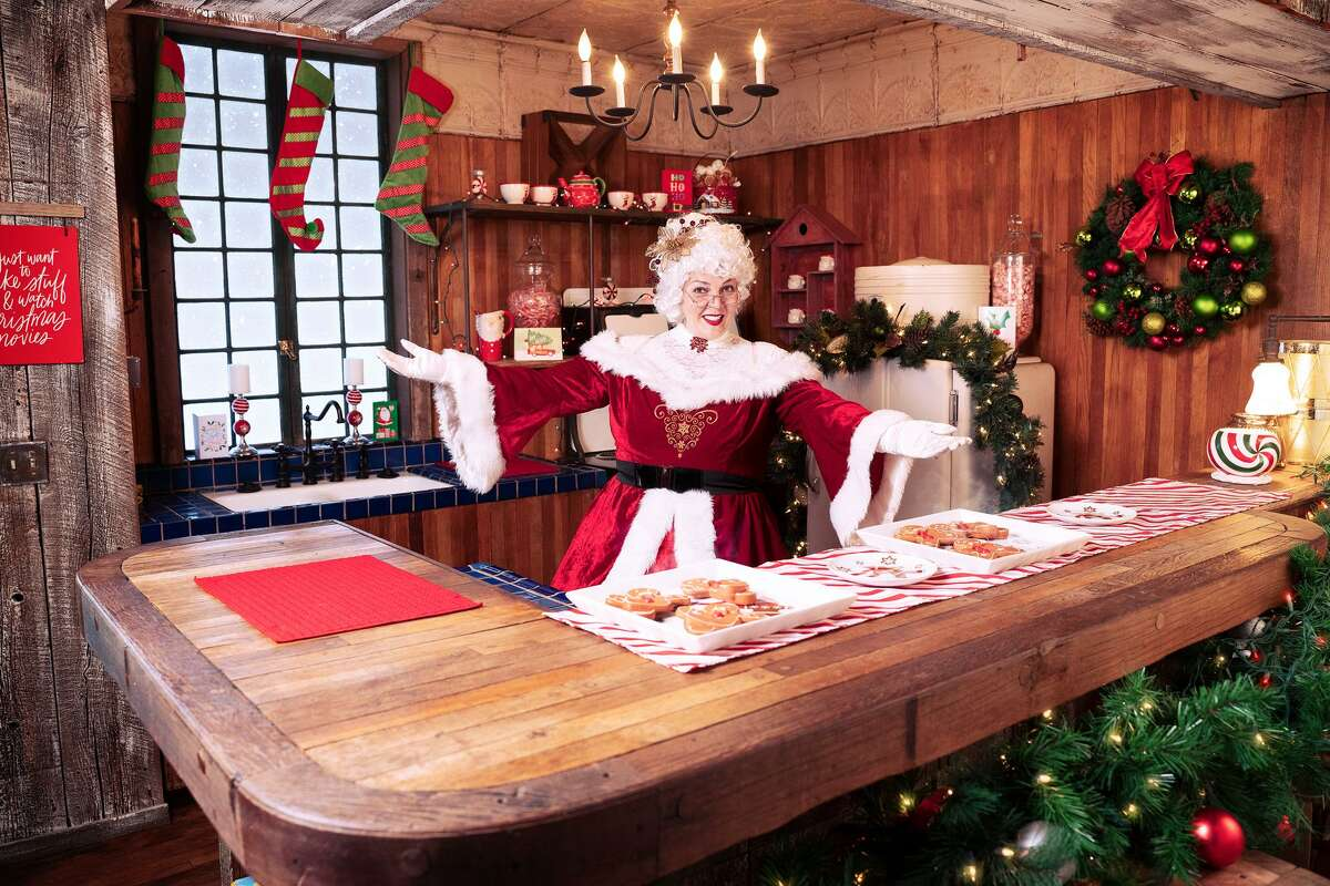 Mrs. Claus with treats in the video chat Santa - The Experience.