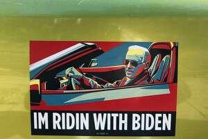 A bumper sticker.